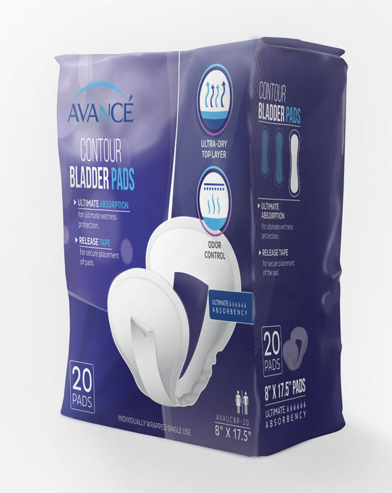 "Avancé Ultimate Absorbency 8"" x 17.5"" Contour Bladder Pads"