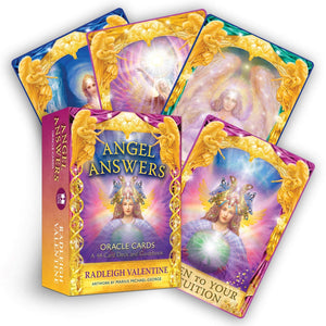 Angel Answers Oracle Cards: A 44-Card Deck and Guidebook || Radleigh Valentine