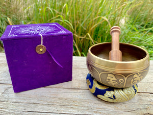 Mini Singing Bowl Gift Set || 3 inch