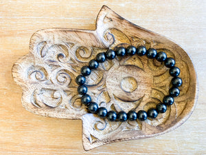 Shungite 8mm Bracelet || Reiki Infused