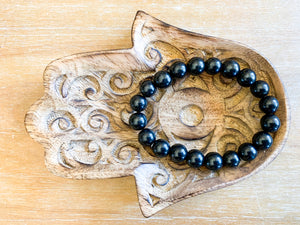 Shungite 10mm Bracelet || Reiki Infused