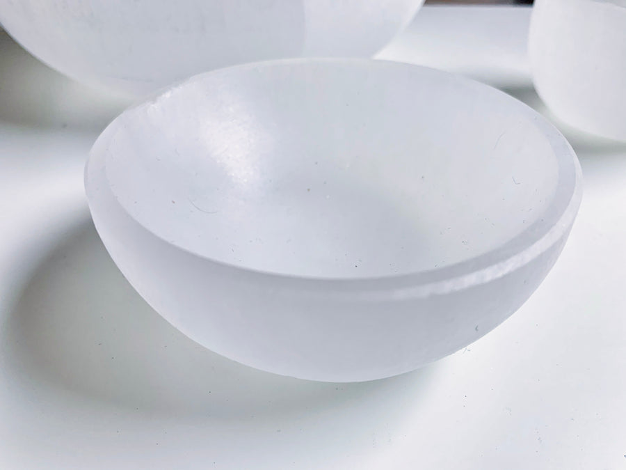 Selenite Round Bowl