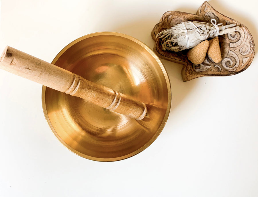 Brass Singing Bowl || 6 inch