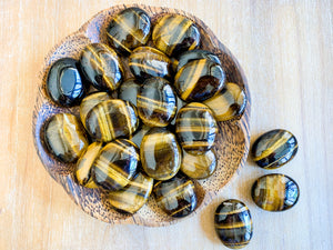 Tiger Eye Palm Stone