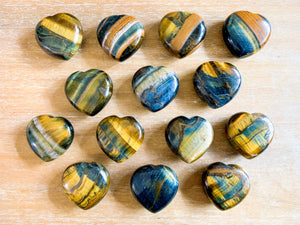 Blue Tiger Eye Heart