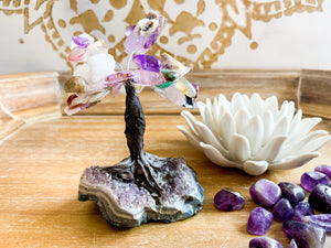 Multi Crystal & Amethyst Bonsai Mini Tree