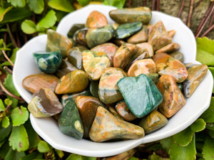 Rainforest Jasper Tumbled Stone