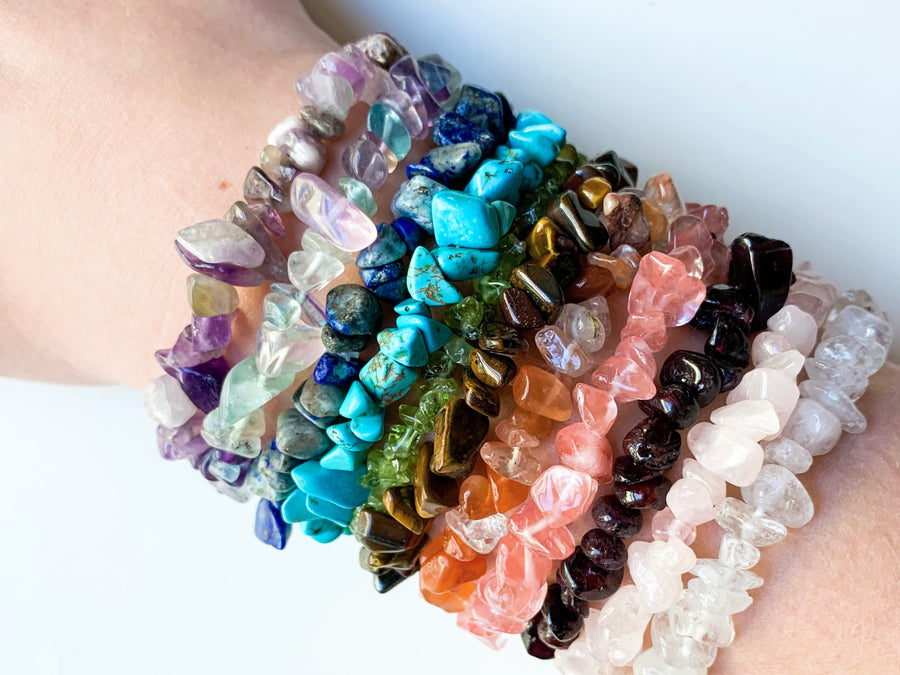 Crystal Chip Bracelet