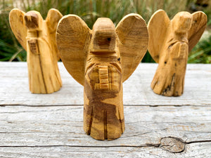 Palo Santo Hand Carved Angel || Small