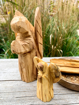 Palo Santo Hand Carved Angel
