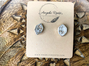 Herkimer Diamond Post Sterling Earrings