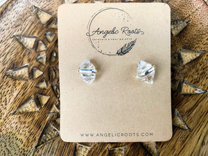 Herkimer Diamond Post Sterling Earrings || Double Terminated