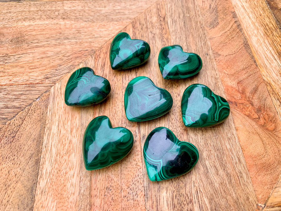 Malachite Crystal Heart
