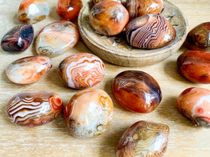 Sardonyx Puffy Palm StoneSardonyx Puffy Palm Stone