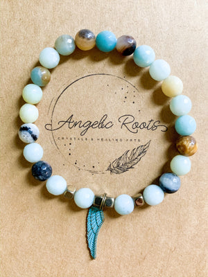Amazonite & Buddha Beaded Bracelet || Reiki Infused