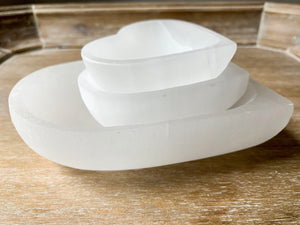 Selenite Heart Bowl