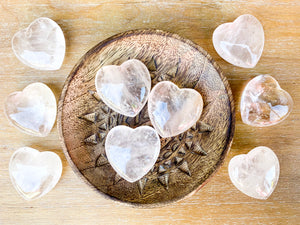 Clear Quartz Heart || Large