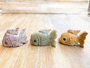 Soapstone Animal Critters Fish