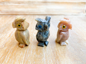 Soapstone Animal Critters Owl