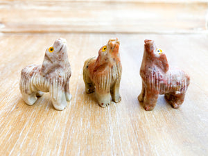 Soapstone Animal Critters Wolf