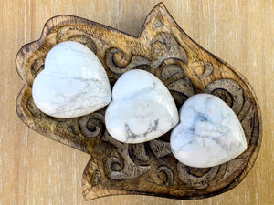 Howlite Crystal Heart Large