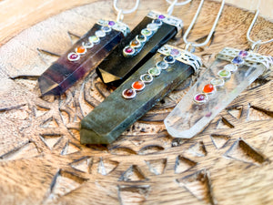 Crystal Point Necklace || Seven Chakra