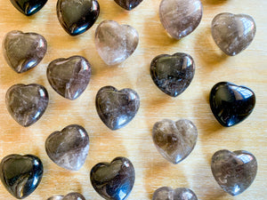 Smoky Quartz Heart || Large