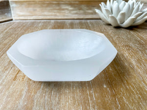 Selenite Octagon Bowl