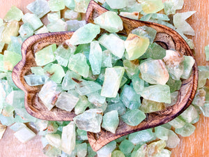 Green Calcite Rough Tumbled Stone - Small