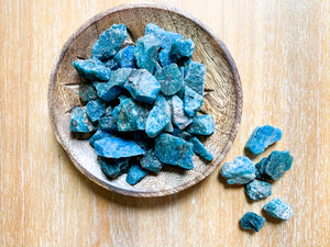 Blue Apatite Rough Tumbled Stone