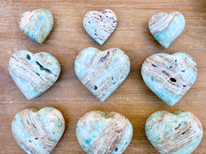 Blue Aragonite Heart