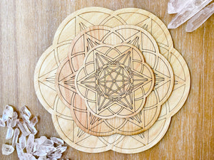 Starseed Wooden Crystal Grid Template
