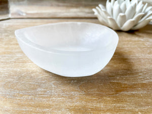 Selenite Dew Drop Bowl