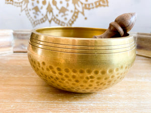 Hand Hammered & Machined Singing Bowl || 5 inch