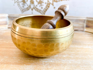 Hand Hammered & Machined Singing Bowl || 4 inch