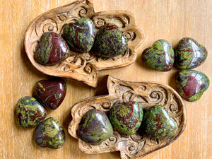 Dragon Blood Jasper Heart