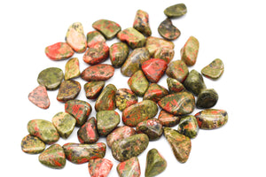 Unakite Tumbled Stone || Small