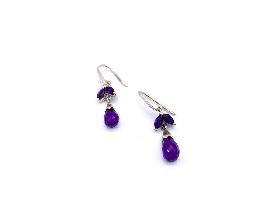 Amethyst Faceted Drop Earrings