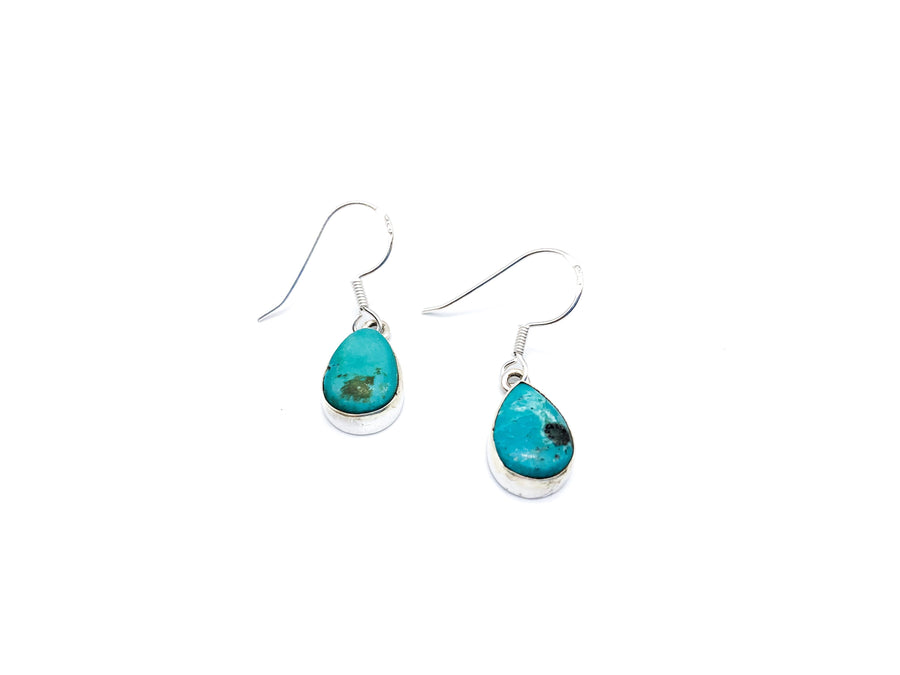 Turquoise Teardrop Drop Earrings