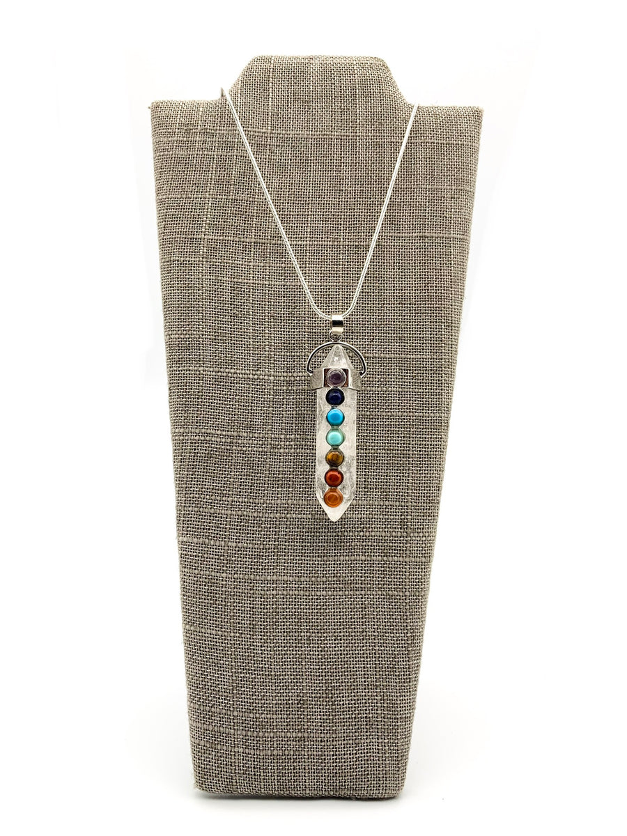 Crystal Double Point Pendant Chakra Necklace