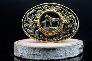 Vintage Wildlife Belt Buckle Horse