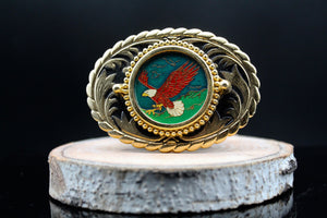 Vintage Wildlife Belt Buckle Eagle