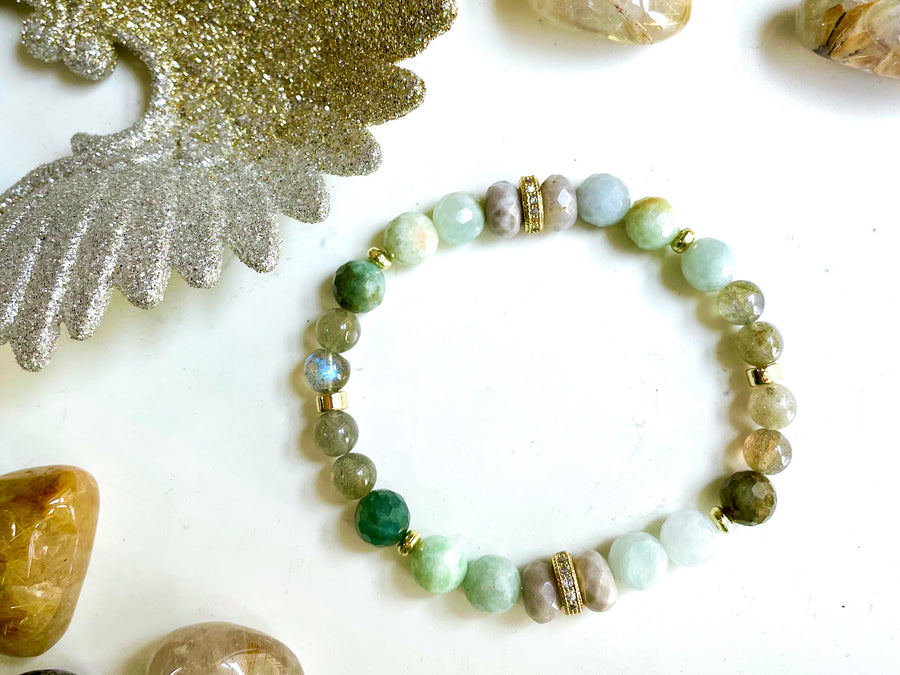 Connecting with Archangels || Archangel Raphael || Labradorite, Burmese Jade and Silver Leaf Jasper