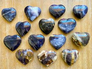 Purple Agate Heart || Indonesia