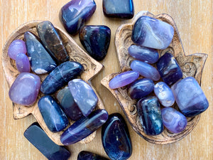 Purple Agate Tumbled Stone || Indonesia