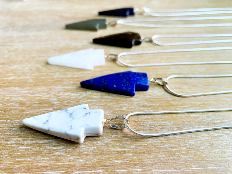 Arrowhead Crystal Necklace