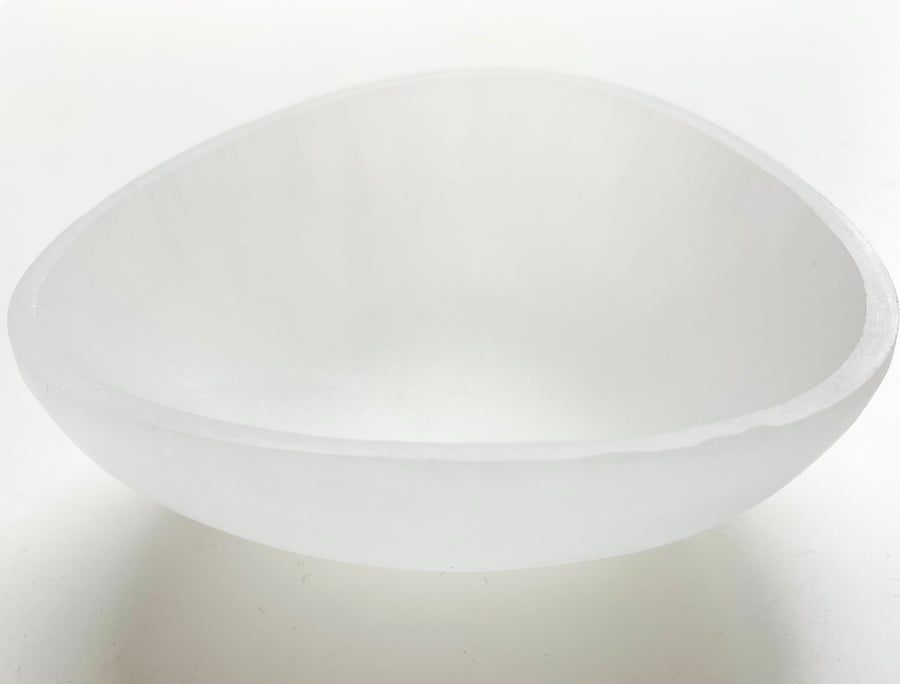 Selenite Triangle Bowl
