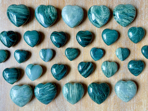 Green Hair Jasper Heart
