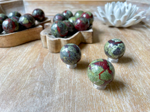 Dragon Blood Jasper Sphere || Mini