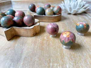 Cherry Creek Network Jasper Sphere || Mini